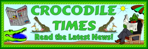 The Enormous Crocodile Roald Dahl Newspaper Free Bulletin Board Display Banner and Ideas