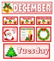 Free December Christmas Calendar