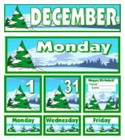 Free December Classroom Calendar For Pocket Charts