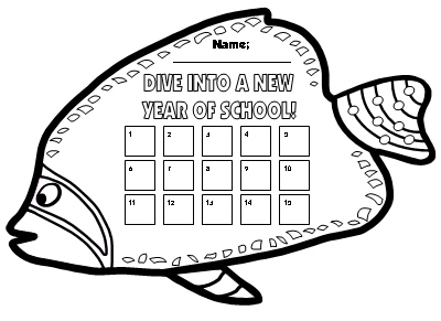 Free Dive Into Learning Fish Shaped Incentive Charts
