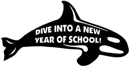 Free Dive Into a New Year of School Whale Classroom Display