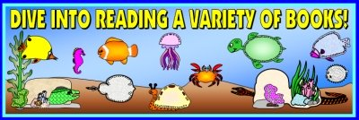 Dive Into Reading Books Bulletin Board Display Banner