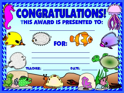 Free Dive Into Learning Award For Elementary School Students