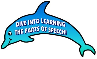 Dolphin Parts of Speech Grammar Bulletin Board Display