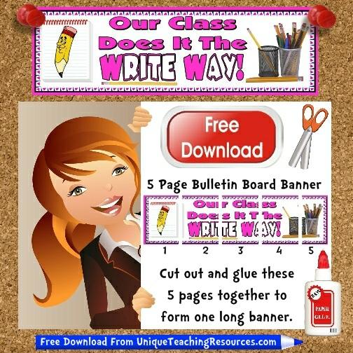 Download Free Creative Writing Bulletin Board Display Banner