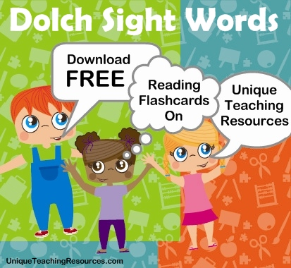 Download Free Dolch Sight Words Flashcards
