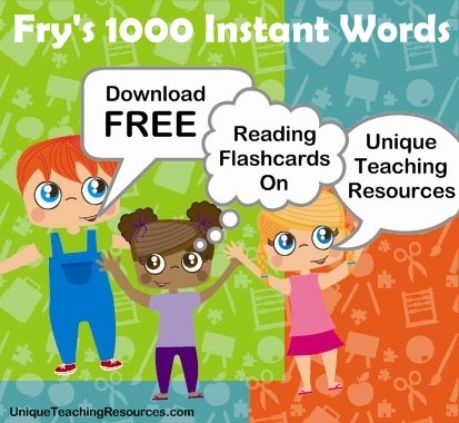 Download Free Fry 1000 Instant Words and Sight Word Flashcards