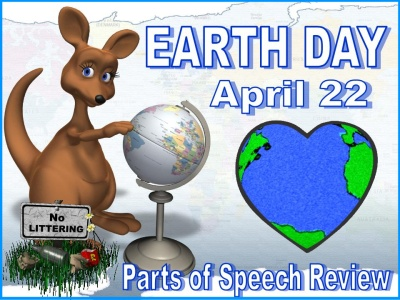 Earth Day Grammar Parts of Speech Powerpoint Lesson