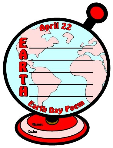 Earth Day Poetry Lesson Plans and Globe Template
