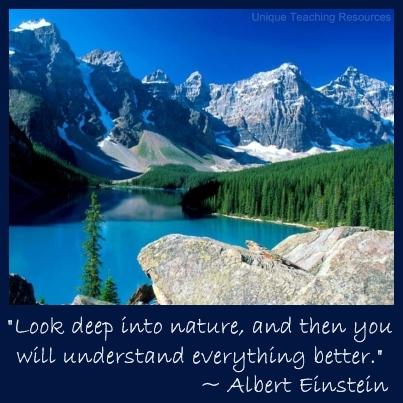 Albert Einstein Quote - Look deep into nature