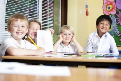 Happy Primary Students Creative Writing