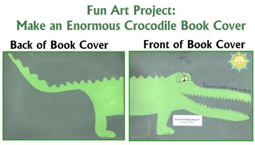 Roald Dahl Fun Art Project Lesson Plans Design an Enormous Crocodile Book Cover