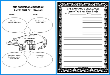 Enormous Crocodile by Roald Dahl Creative Writing Idea Web Worksheet