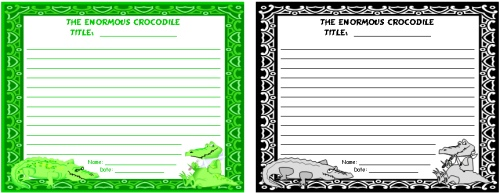 Enormous Crocodile Creative Writing Worksheet Roald Dahl Lesson Plans