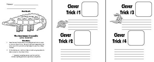 Enormous Crocodile First Draft Printable Worksheets for Fun Group Project Roald Dahl