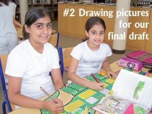 Enormous Crocodile Group Projects Drawing Pictures of Clever Tricks