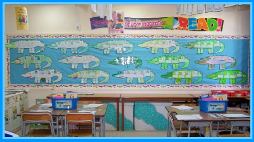 Enormous Crocodile Group Projects Bulletin Board Display