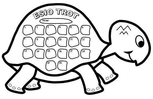 Esio Trot Turtle Reading Sticker Chart Template