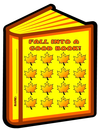 Fall and Autumn Reading Sticker Chart Templates for Elementary School Students