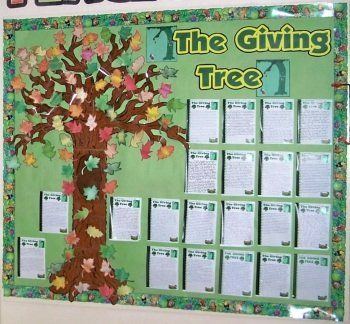 Fall and Autumn Bulletin Board Display Ideas and Examples The Giving Tree