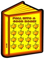 Fall Into A Good Book Reading Sticker Charts for Thanksgiving