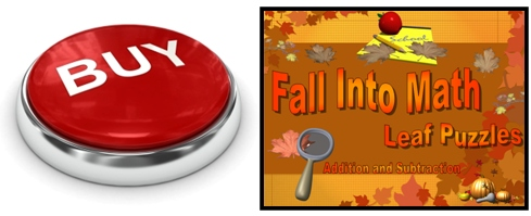 Fall and Autumn Math Powerpoint Lesson Plans Buy Now Button
