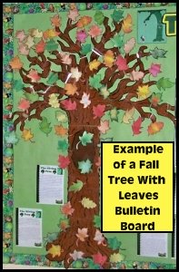 Fall and Autumn Tree Bulletin Board Display Example and Ideas for Classrooms
