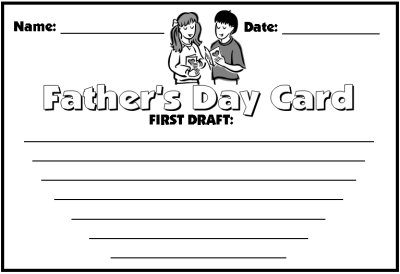 Father's Day First Draft Printable Worksheets
