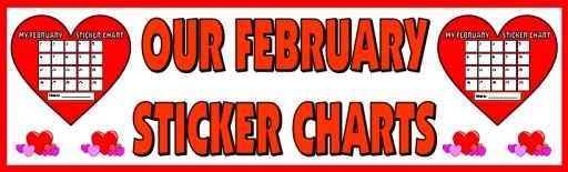 Valentine's Day Sticker Chart Classroom Bulletin Board Display Banner