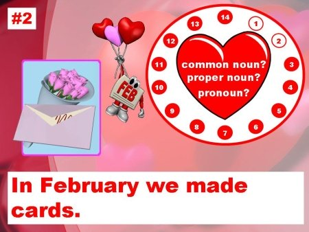 Valentine's Day Nouns and Grammar Powerpoint Lesson Activity