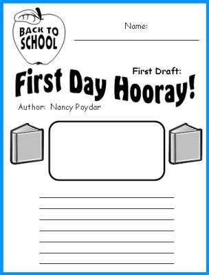 First Day Hooray Nancy Poydar Printable Worksheets