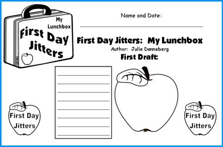 Creative Writing Worksheet for First Day Jitters Danneberg