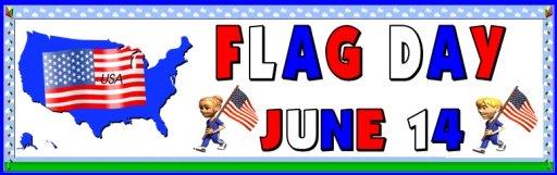 Flag Day June 14 Bulletin Board Display Banner Printable Worksheets
