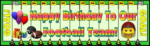 Football Happy Birthday Classroom and Bulletin Board Display Sports Theme