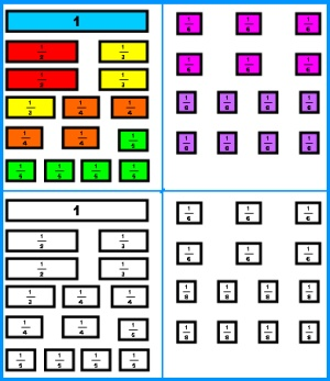 Free Worksheets » Coloring Fraction Worksheets - Free Math ...