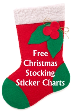 Free Christmas Stocking Sticker Charts