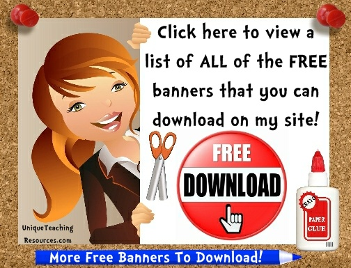 Click here to download more free classroom bulletin board display banners.