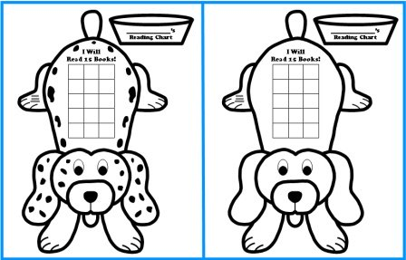 Free Dog Sticker Chart Templates For Reading