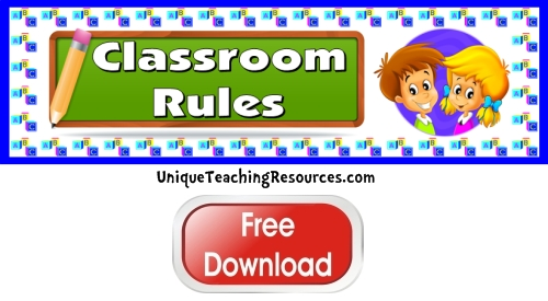 Click here to download this free classroom rules bulletin board display banner.