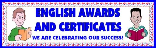 Free English Awards and Certificates for Elementary School Students