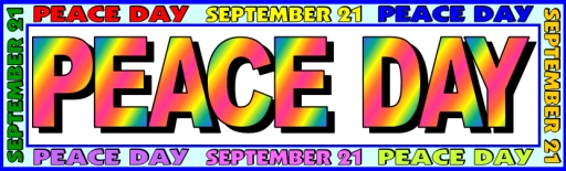 Free Peace Day Bulletin Board Display Banner for Group Projects