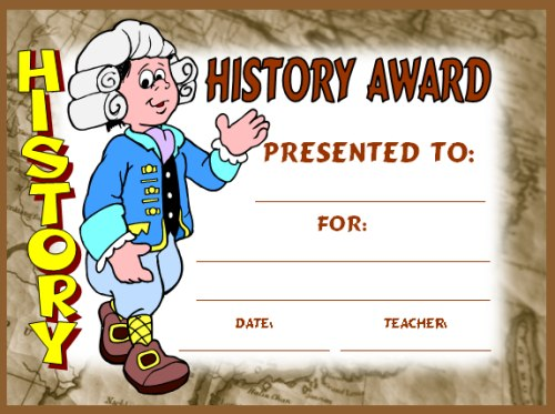 Free Social Studies and History Award Certificates for Students