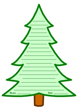Free Winter Tree Printable Worksheets and Templates for Poems