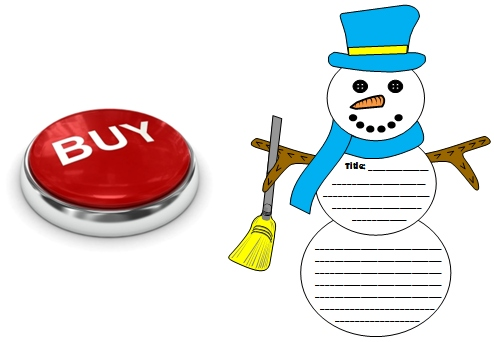 Frosty the Snowman Creative Writing Projects, Templates, and Worksheets