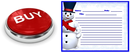 Frosty the Snowman Printable Worksheets for Christmas and Winter Buy Now Button