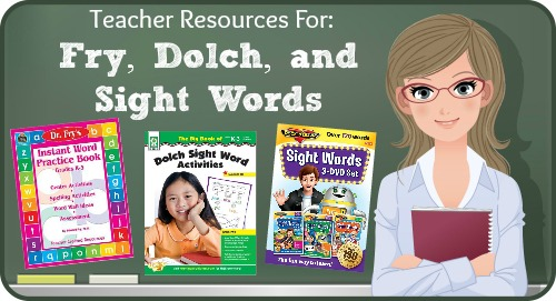 Fry and Dolch Sight Words Teacher Resources