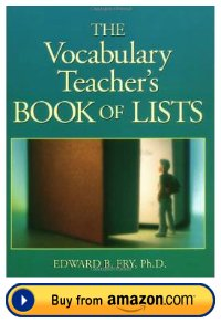 Dr. Edward Fry The Vocabulary Teacher's Book of Lists Resource Book
