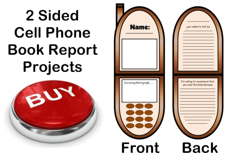 Fun Book Report Project Ideas - Cell Phone