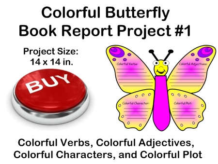 Fun Book Report Project Ideas - Butterfly Templates For Students