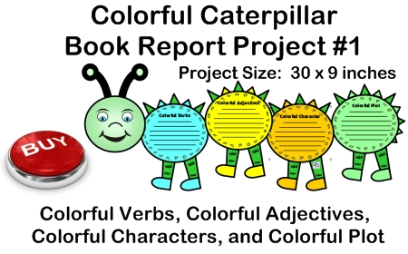 Fun Book Report Project Ideas - Caterpillar Templates